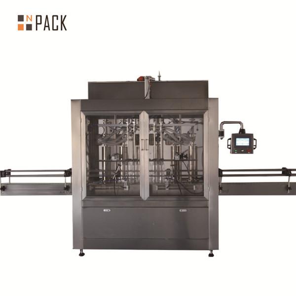 Пневматска волуметриска машина за полнење на течности клипни со две глави